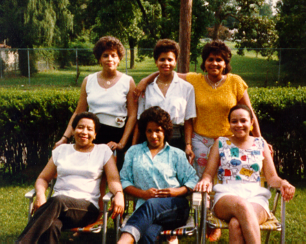 5 of My Aunts & Mother (Seated Front Center!!)