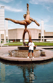 An Olympic Statue at The Georgia World Congress Center