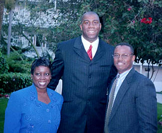 Mr&Mrs. Duane Wright with Magic Johnson