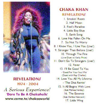 Chaka Revelations CD Back Cover